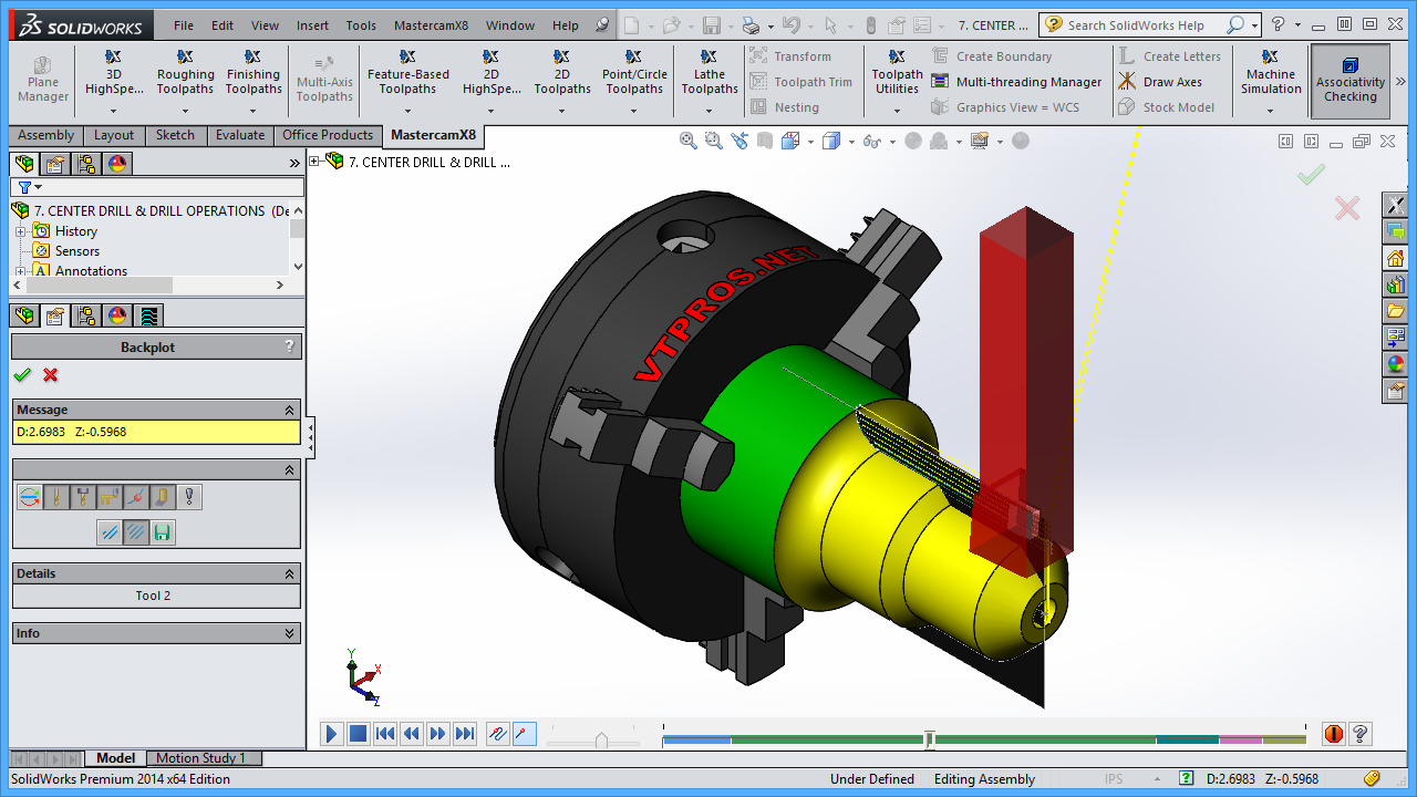 MASTERCAM X8-X9 FOR SOLIDWORKS - LATHE VIDEO TUTORIAL